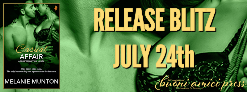 Release Blitz- Casual Affair (Slow Seduction #1) By Melanie Munton