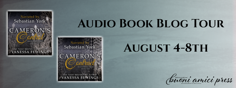 Audio Book Blog Tour – Cameron's Control & Cameron's Contract By Vanessa Fewings