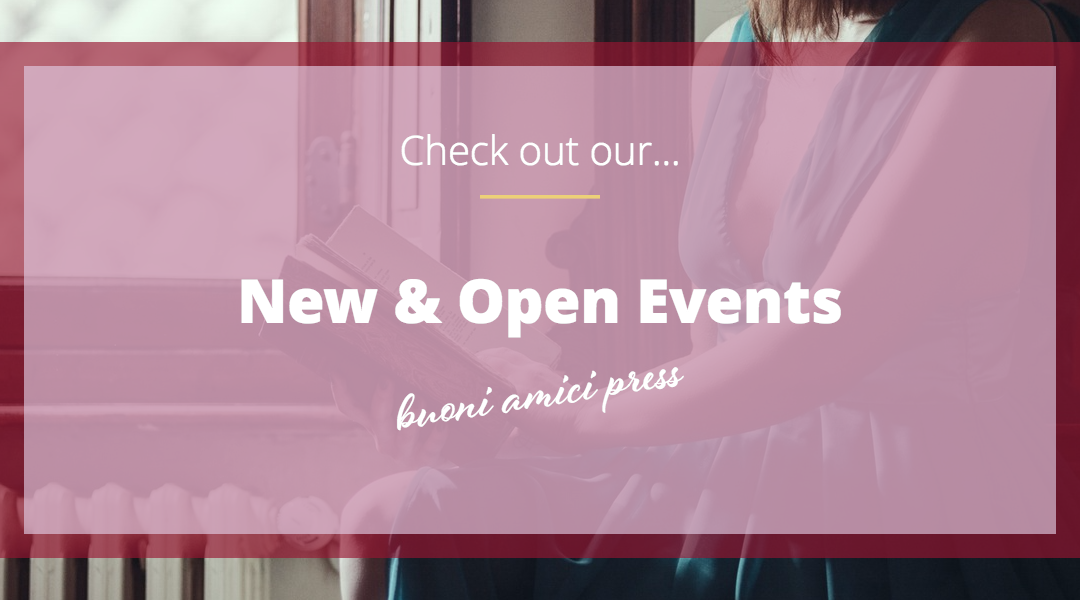 Get your reviewing on! New & Open Events from Buoni Amici Press