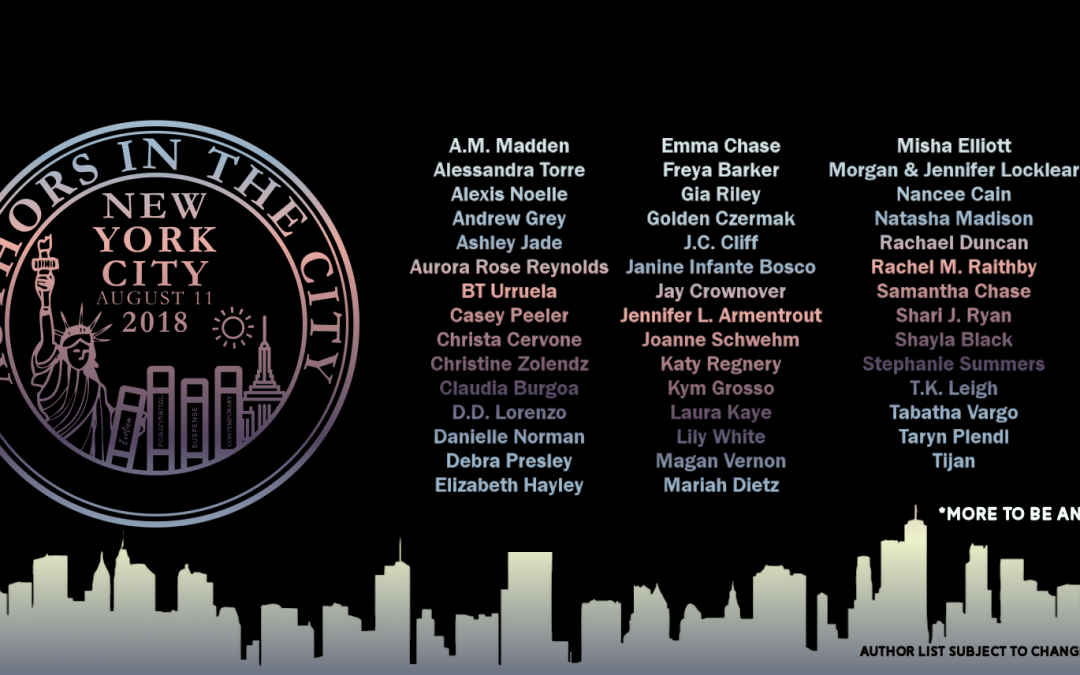 [New Event] Authors in the City Book Signing Ticket Blitz