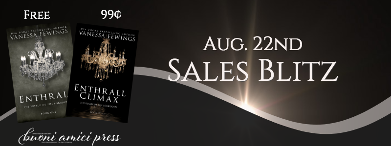Enthrall & Enthrall Climax by Vanessa Fewings Sales Blitz Sign Up
