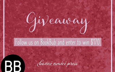 Follow our authors on #BookBub and you may win!