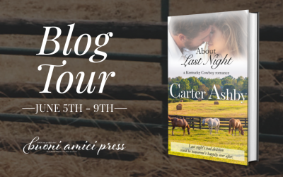 #BlogTour About Last Night By Carter Ashby