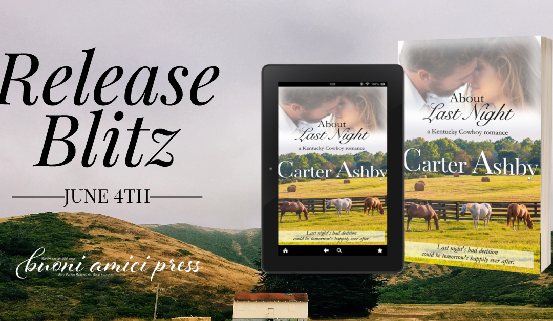 #ReleaseBlitz About Last Night By Carter Ashby