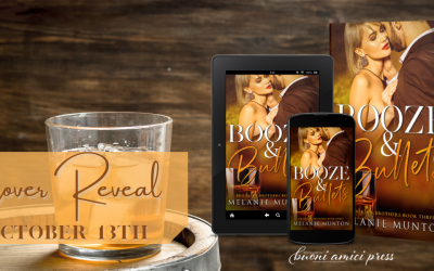 #CoverReveal Booze & Bullets (Brooklyn Brothers, #3) By Melanie Munton